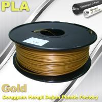 Buy cheap 1.75mm / 3.0mm Gold PLA 3d Printer Filament 100% biodegradable product