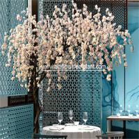 Wholesale White Flower Artificial Weeping Cherry Blossom Tree Outdoor Party Decoration from china suppliers