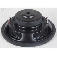 Buy cheap Black Shallow Mount 10 Inch Subwoofer , Y35 Ferrite Magnet Slim Car Subwoofer from wholesalers