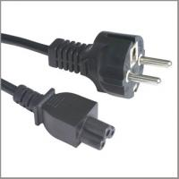 Buy cheap European cord set with CEE7/7 straight plug VDE approval power supply cord with C5 from wholesalers