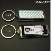 Buy cheap Promotional single flashing Solar Led Keychain Logo can be imprinted from wholesalers