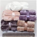 Buy cheap 66X90 350gsm Bedsure Throw Blanket , Pink Microfiber Blanket from wholesalers