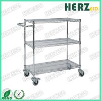Buy cheap 3 Layers Stainless Steel Wire Shelves , ESD Trolley For Control EPA Internal Transport Risks from wholesalers