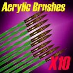 Buy cheap 10PCS Sable Acrylic Nail Brush from wholesalers