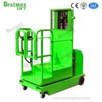 Buy cheap 2.7m - 4.5m Hydraulic Warehouse Electric Order Picker Self Propelled In Green from wholesalers