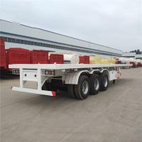 Buy cheap 2 Axle 3 Axle 40 Ft 20 Footer Container Semi Trailer Chassis Flat Bed Flatbed Trailer from wholesalers