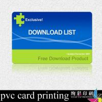 Buy cheap Laser Hologram Label Printed Plastic Cards Matte Surface For Advertising from wholesalers