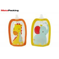 Buy cheap BPA Free Spout Pouch Refillable Baby Food Squeeze Pouch With Spout Special Shape from wholesalers