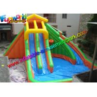 Buy cheap Large Outdoor Inflatable Water Slides Pool With PLATO 0.55mm PVC Tarpaulin from wholesalers