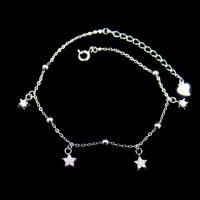 Buy cheap Adjustable Sterling Silver Charm Bracelet , Sterling Silver Star Bracelet from wholesalers
