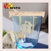 Buy cheap Bride And Groom Place Card Holder Wedding Favor Customize Handmade from wholesalers