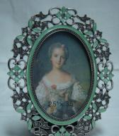 Buy cheap metal picture frame oval photo frame from wholesalers