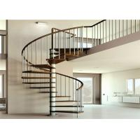 Buy cheap Apartment Interior Wrought Iron Spiral Staircase House / Office Application from wholesalers