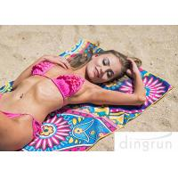 Buy cheap Microfiber Material Custom Beach Towel Printing Super Fast Drying Outdoor from wholesalers