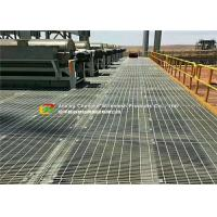 Buy cheap Galvanized Low Carbon Steel Bar Grating Plain Type Anti - Theft Design product