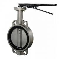 Buy cheap DN100 Stainless Steel Butterfly Valve With Lever Operator Easy To Install from wholesalers