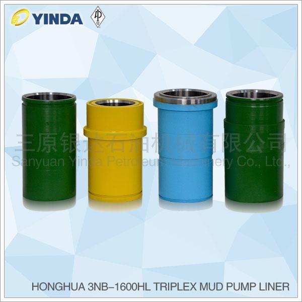 HONGHUA 3NB-1600HL Triplex Mud Pump Liner, API-7K Certified Factory, Chromium 26-28%, HRC hardness greater than 60