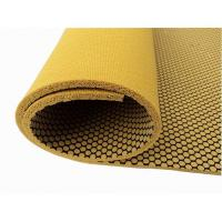 Textured Natural Rubber Yoga Mat With Mesh Fabric, Non-Slip Manufactures