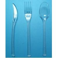 Buy cheap 7 plastic disposable clear cutlery PS heavy weight wholesale plastic cutlery factory from wholesalers