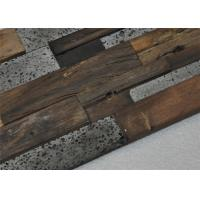 Buy cheap Natural Mosaic Wood Floor Mixed Color , Old Ship Modular Wood Wall Panels from wholesalers