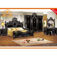 New fashioned real leather Romantic style 5-star hotel king expensive cheap antique antique reproduction bedroom sets