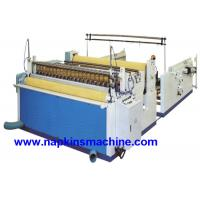 Nonwoven Paper Roll / Jumbo Roll Slitting Machine To Rewind And Slit Toilet Paper Manufactures