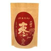 Kraft Paper Pouches Food Grade Stand Up Zipper Bags For Coffee / Tea / Dried Fruits Manufactures