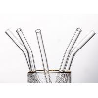 Wholesale Clear Curved Glass Drinking Straws / Bent Glass Straws CE Certification from china suppliers