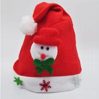 Buy cheap Red Color Cheap Christmas Crafts Hat Santa Hat for Festival Part Decoration from wholesalers