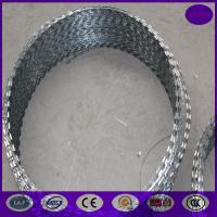 Buy cheap 800mm 64 loops 10m concertina razor barbed wire from wholesalers