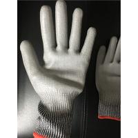 Buy cheap 13 gauge Knitted Cut level 3 coated PU palm gloves/Cut resistant gloves from wholesalers