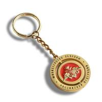 Buy cheap Custom Metal Trolley Coin Keyring , Mini Turbo Keychain Double Sided Printed from wholesalers