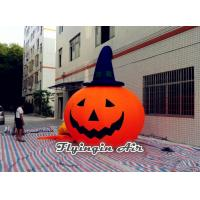 Buy cheap Inflatable Halloween Pumpkin with Witch Hat for Events and Outdoor Door from wholesalers
