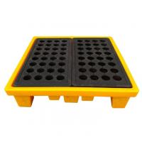 Buy cheap High Density Poly 4 Drum Spill Containment Pallets Leak Proof For Drum Tank from wholesalers