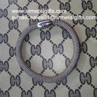 Buy cheap Stainless steel mesh chain bracelet bangle with magnetic enclosure from wholesalers