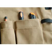 Buy cheap Brown Canvas Garden Tool Apron Adjustable Strap With 10 Pockets Custom size from wholesalers