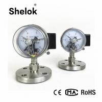 Buy cheap Diaphragm seal electric contact flange type dry pressure gauge manometer from wholesalers