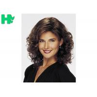 No Lace Synthetic Hair Wigs Heat Resistant Fiber Curly Wave For Women Manufactures