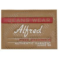 Buy cheap Personalized Leather Patch Custom Embossed Jeans Leather Patch Label for Clothing from wholesalers