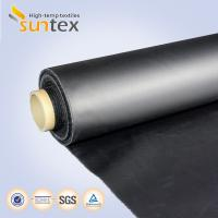 China Neoprene Coated Fiberglass Chemical Resistant Fabric 0.5mm Black Color Weather Resistance on sale