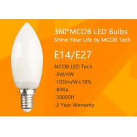 Quality MCOB 4W Dimmable C35 E14 LED Bulbs, 40W Incandescent Bulbs Equivalent, Candelabra Bulbs, 440lm, 180° Beam Angle, Warm Wh for sale
