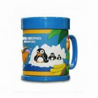 Wholesale Promotional Soft PVC Mug, Measures 85 x 94mm, Made of Plastic from china suppliers