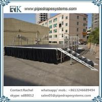 Buy cheap portable glass Aluminium performance Stage adjustable riser for outdoor concert from wholesalers