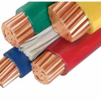 Buy cheap 95mm PVC Insulation Copper Cable / Flexible 4 Core Electric Cable from wholesalers