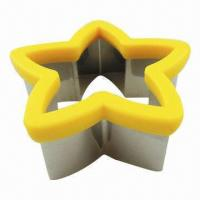 Buy cheap Cookie Cutter, five star shape, made of stainless steel 18/0 and PP, food safe, LFGB level from wholesalers