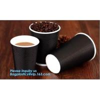 Buy cheap disposable cup/vending paper cup/custom coffee cups,ripple wall disposable paper cup custom logo printed hot coffee cups from wholesalers