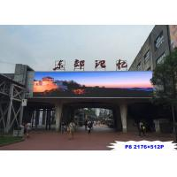 Wholesale Steel / Iron Material Outdoor Led Video Display Board P8 Fixed Installation from china suppliers