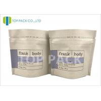 Gravaure Printed resealable Foil Stand Up Pouches Kraft Paper Top Zipper Body Scrub Manufactures