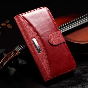 Iphone 7 Plus Vintage IPhone Leather Wallet Case Multi Colors Litchi Splitting