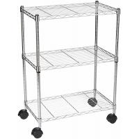 Buy cheap Three Tier Home Wire Shelving Storage Unit With Wheels Standard Sizes from wholesalers